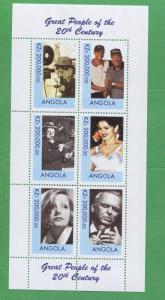 Great People 20th Century Madonna Tiger Woods Souvenir Stamp Sheet Angola E24