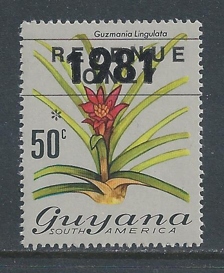 Guyana #359 NH 1981 Ovptd. on 50c Flora Defin.