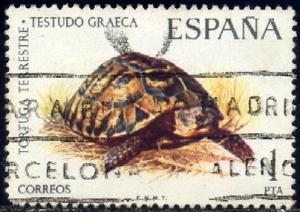 Greek Tortoise, Spain stamp SC#1819 Used