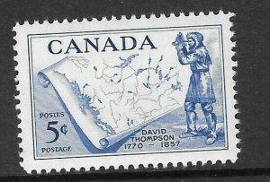 CANADA SG496 1957 DEATH CENTENARY OF DAVID THOMPSON MNH