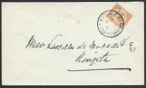 JAMAICA 1919 local cover 1½d War Tax : Savannah La Mar cds...................740