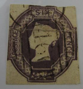 Scarce c1850 Great Britain SC #7 QUEEN VICTORIA  used stamp