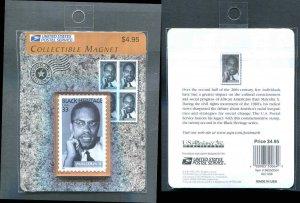 Sealed Malcolm X Refrigerator Magnet Like US Stamp 3273 USPS Product Logo