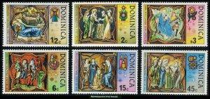 Dominica Scott 541-547 Mint never hinged.