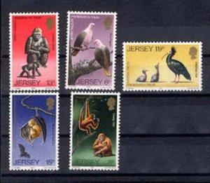 024820 WILD ANIMALS JERSEY set of 5 stamps MNH#24820