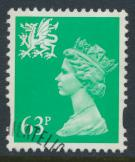 Wales SG W78 SC# WMMH65 Used  with first day cancel 63p Machin