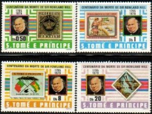 St. Thomas & Prince Islands MNH 573-6 Sir Rowland Hill 1980 SCV 8.80