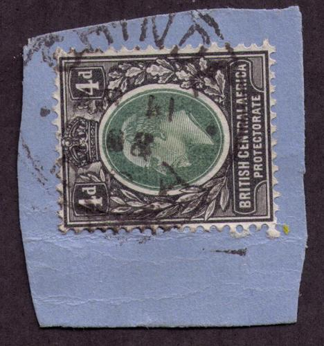 British Central Africa #  62  Used VF  Chinde Cat $ 11+++