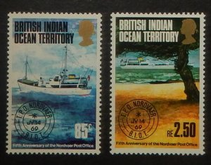 British Indian Ocean Territory 57-58. 1974 Nordvaer traveling post office