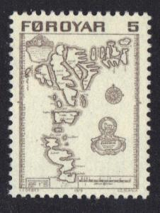 Faroe Islands  #7  1975 MNH definitives 5 ore