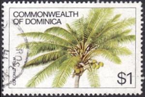 Dominica # 730 used ~ $1 Coconut Palm