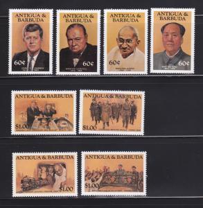 Antigua 819-826 Set MNH Famous Politicians