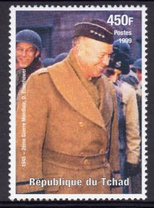 Chad 1999 Sc#808h WWII GENERAL EISENHOWER (1) Perforated MNH