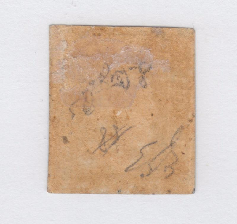 Two Sicilies Sc 16a MLH. 1859 10gr indigo Ferdinand II, Signed A. Diena