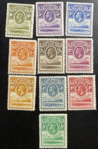 Mint Basutoland 1933 Crocodile & River Scene Stamp Set Sc# 1-10