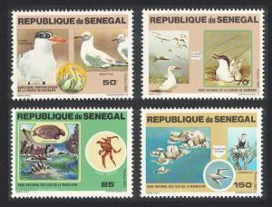 Senegal Terns Gulls Cormorant Birds Turtle Crab National Parks 4v 1981 MNH