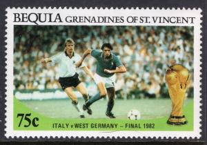 St Vincent Grenadines Bequia 224 Soccer MNH VF
