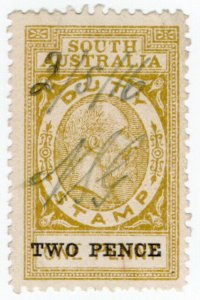 (I.B) Australia - South Australia Revenue : Stamp Duty 2d on 1d OP