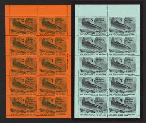 U.S. Stamp (NJT35 and NJT36) 1970 New Jersey Trout Stamp Two Sheets of 10 (MNH)