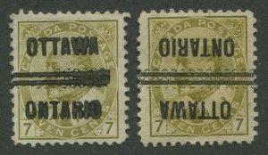 CANADA PRECANCEL OTTAWA 1-92, 1-92-I