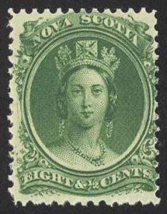 Canada Nova Scotia Sc# 11 MH (d) 1860 8½¢ green Queen Victoria