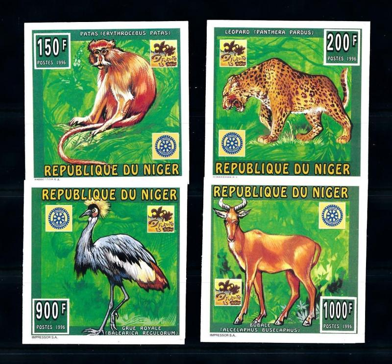 [76539] Niger 1996 World Jamboree Scouting Wild Life Leopard Rotary Imperf. MNH
