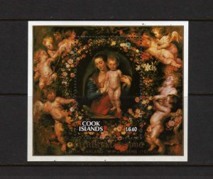Cook Islands #923 MNH SS Religious Christmas Art 1986 NH Rubens Paintings