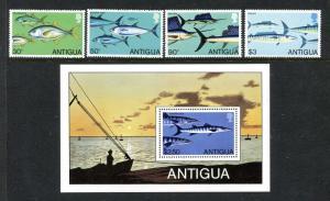 Antigua 542-546 MNH Marine Life Fish 1979 x29315