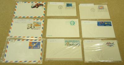 Collection of Mint USA Stamp Postcards 9qty