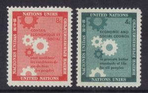 United Nations New York 1958 MNH economic council complete