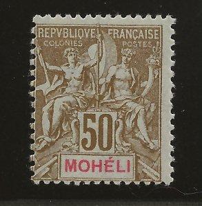 Moheli 1906 12 Yv 12 MLH Fine SCV $24.00 (jr)