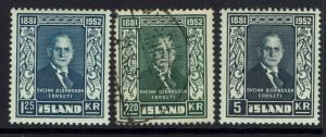 Iceland SC# 274 - 276 - Mint Lightly Hinged / Used - 030517