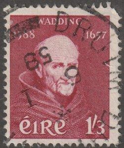 Ireland stamp, Scott#164, used, hinged, 1/3, maroon, #164