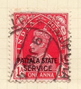 Indian States Patiala 1938 Early Issue Fine Used 1a. Optd 075654