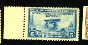 U.S. #650 MINT VF-XF OG NH
