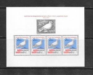 BIRDS - CZECHOSLOVAKIA #2465a  S/S   MNH