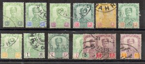 Malaysia - Johore 1896-99 values to $5 FU CDS