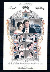 [50045] Guyana 2002 Dutch royal wedding Amsterdam MNH Sheet