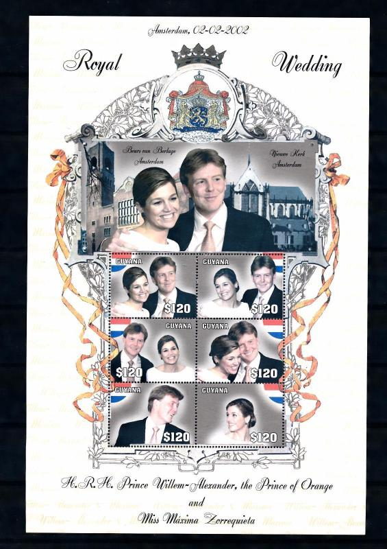 [50045] Guyana 2002 Dutch royal wedding Amsterdam MNH Sheet