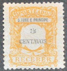 DYNAMITE Stamps: St. Thomas & Prince Islands Scott #J45 – MINT hr