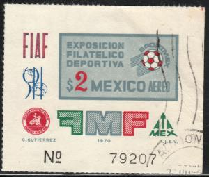 MEXICO C374, Sportmex70 Philatelic Exposition. Used. F-VF. (1184)