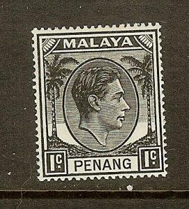 Malaya-Penang, Scott #3, 1c King George VI, MH