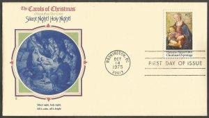 US FDC.CAROLS.1975 CHRISTMAS STAMP-GHIRLANDAIO.SILENT NIGHT! HOLY NIGHT!