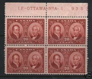 Canada #148 Mint Plate Block
