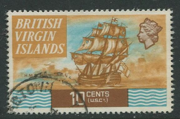 Virgin Is.- Scott 214 - QEII Definitives -1970 - FU - Single 10c Stamp