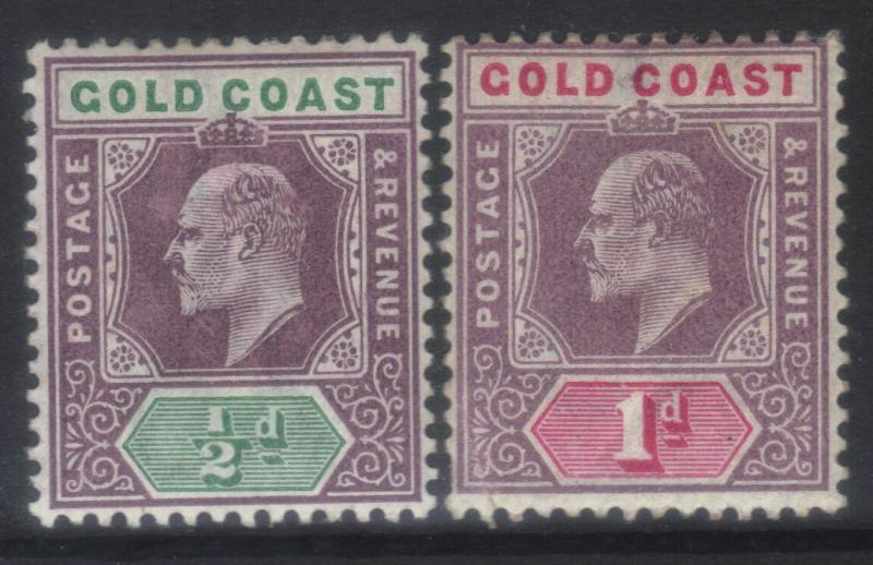 GOLD COAST 1902 CROWN CA SG38-39 M/M