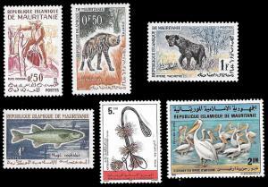 Mauritania SC 119,134,135,177,404,506 - 6 Stamps - MNH