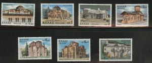 GREECE Scott 1031-37 MNH** 1972 Monastery Church set of 7