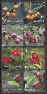 Romania 2017 Berries Scott (6001-04) MNH