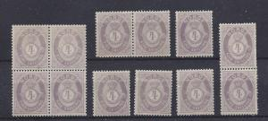 Norway, 19, 1873 Numeral Type w/ All Twelve Varities,**MNH**
